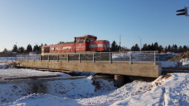 Sillamäel sai kahe ööpäevaga paika uus viadukt