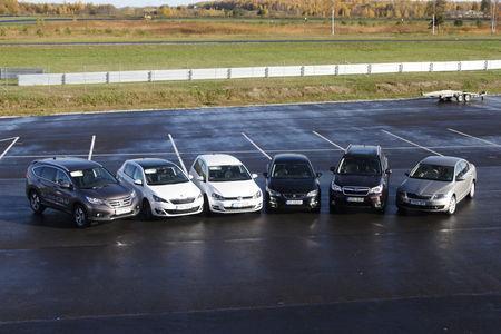 Aasta auto finaali pääsenud sõidukid. Foto: Tarmo Riisenberg