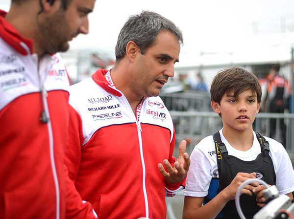 Juan Pablo Montoya koos poja Sebastianiga. Foto: CIK-FIA