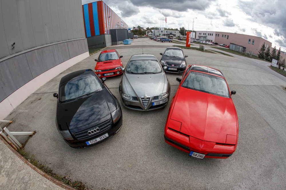 Fantastiline viisik: kuni 5000-eurosed kiired autod